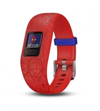 GARMIN vivofit jr 2 pulsera ajustable Spiderman roja