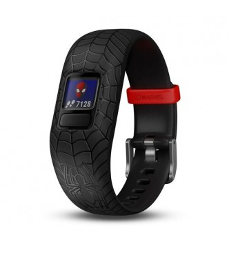 GARMIN vivofit jr 2 pulsera ajustable Spiderman negra