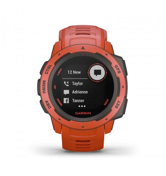Garmin Instinct™ Rojo Resistente reloj con GPS