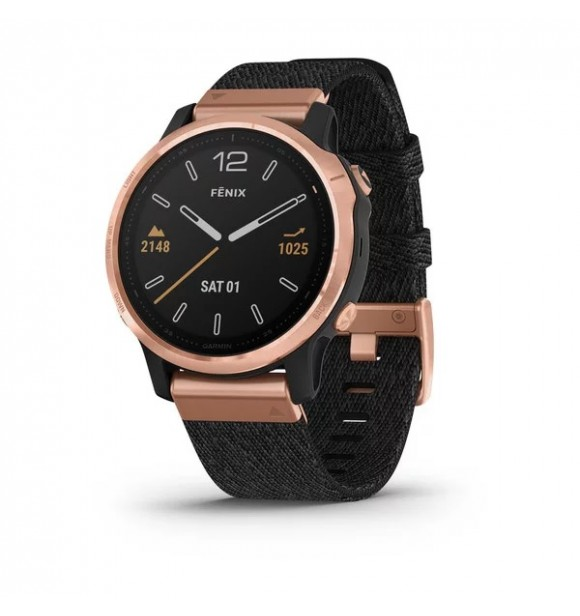 GARMIN 010-02159-37 Fenix 6S Zafiro Rose Gold negro correa nylon negra EXCLUSIVO