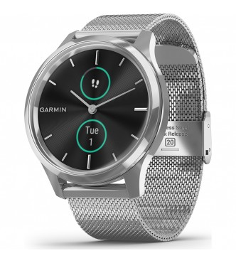 GARMIN 010-02241-03 vívomove 3 Luxe Milanesa plata  EXCLUSIVO
