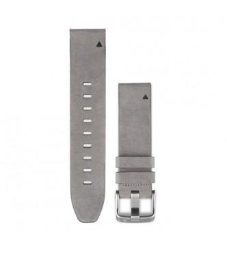 GARMIN Correas de reloj QuickFit™ 20, cuero ante gris