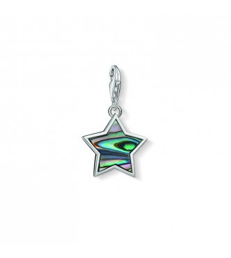 Thomas Sabo Charm pendant 925 Sterling silver/ abalone mother of pearl multicoloured