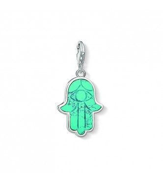 Thomas Sabo Charm pendant 925 Sterling silver/ simulated turquoise turquoise