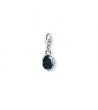 Thomas Sabo Charm pendant 925 Sterling silver,  blackened/ zirconia black
