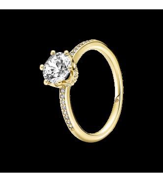 168289C01-48-Anillo Solitario en Pandora Shine Corona Brillante Transparente