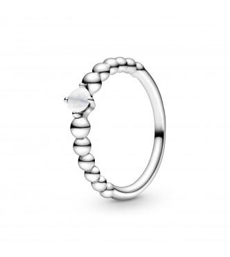 PANDORA Sterling silver ring with milk Anillo 198867C04-48