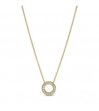 367436C01-45-Collar en Pandora Shine Círculo en Pavé  Logotipo de Pandora