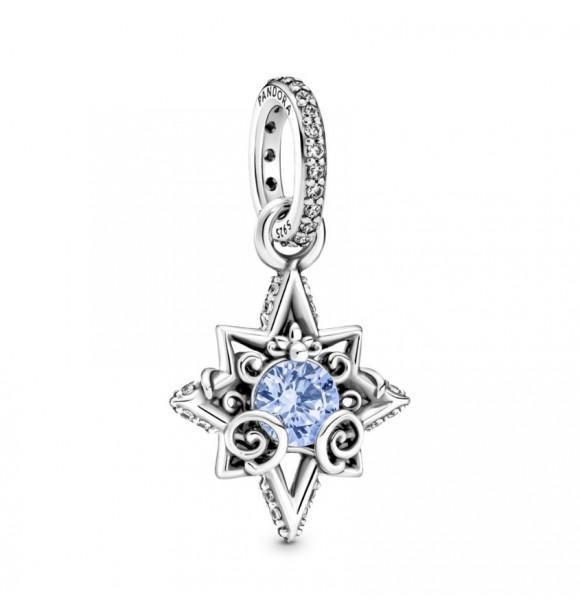 399560C01-Charm Colgante en plata de ley Corazón Azul Cenicienta de Disney