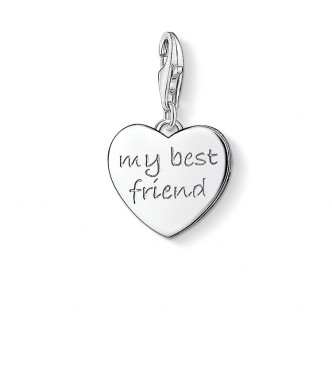 Thomas Sabo Charm pendant MY BEST FRIEND 925 Sterling silver plain