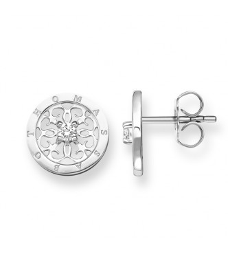 Thomas Sabo ear studs 925 Sterling silver/ zirconia white