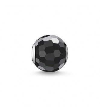 Thomas Sabo Bead obsidian faceted 925 Sterling silver/ obsidian black