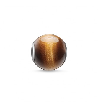 Thomas Sabo Bead brown 925 Sterling silver/ tiger's eye brown