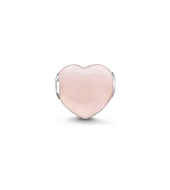 Thomas Sabo Bead pink heart 925 Sterling silver/ rose quartz pink