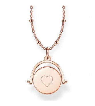 Thomas Sabo necklace, appr. 40/42,5/45 cm 925 Sterling silver, gold plated rose gold plain