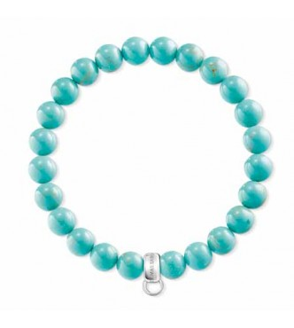 Thomas Sabo bracelet, appr. 16,5 cm 925 Sterling silver/ simulated turquoise turquoise