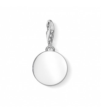 Thomas Sabo Charm pendant disc 925 Sterling silver silver-coloured