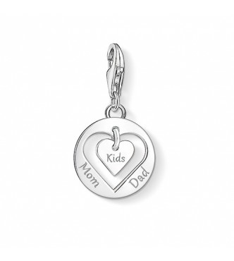 Thomas Sabo Charm pendant heart MUM, DAD, KIDS 925 Sterling silver silver-coloured