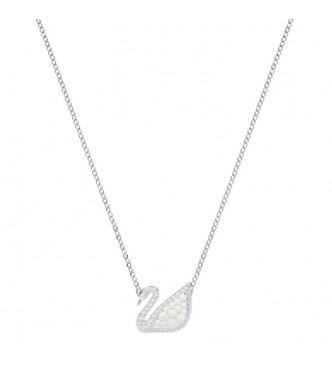SWAROVSKI ICONIC SWAN:NECKLACE MP CRYWHITE/RHS NECKLACE Collar Iconic Swan, blanco, baño de rodio