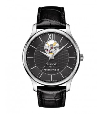 TISSOT Classic TRADITION/GR/A/STEEL/LEA.BLACK/BLACK