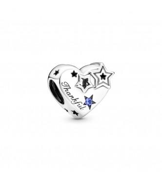 799527C01-Charm en plata de ley Corazón Agradecido y Estrellas