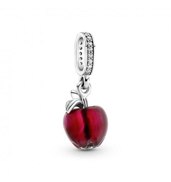 799534C01-Charm Colgante en plata de ley Manzana  Cristal de Murano Rojo
