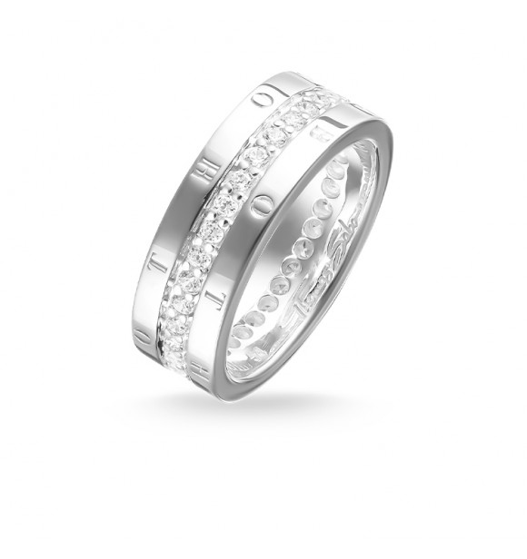 Thomas Sabo ring 925 Sterling silver/ zirconia white