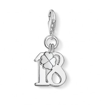 Thomas Sabo Charm pendant lucky number 18 925 Sterling silver plain