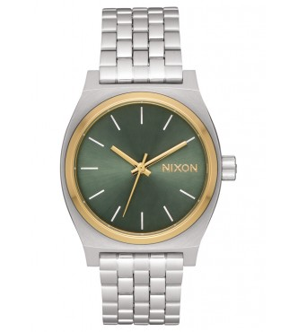 NIXON Medium Time Teller Silver / Gold / Agave A11302877
