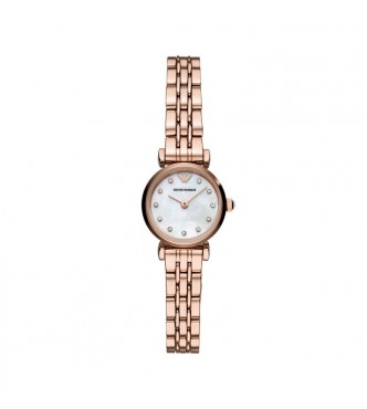 ARMANI WATCHES GIANNI T-BAR  AR11203 WOMEN STAINLESS STEEL ROSE GOLD QUARTZ 2 HAND 22MM 3ATM