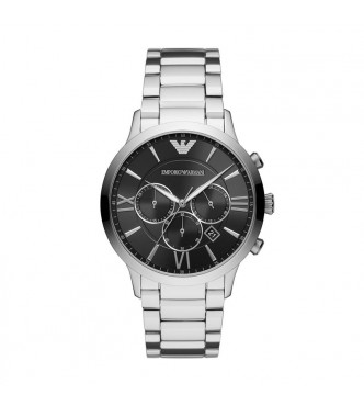 ARMANI WATCHES GIOVANNI  AR11208 MEN STAINLESS STEEL SILVER QUARTZ CHRONO 44MM 5ATM