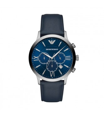 EMPORIO ARMANI WATCHES GIOVANNI  AR11226 STAINLESS STEEL SILVER STAINLESS STEEL BLUE QUARTZ/CHRONO 43MM 5ATM