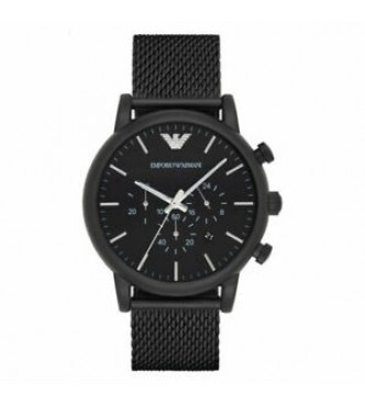 EMPORIO ARMANI AR1968 LUIGI BLACK DRESS MEN