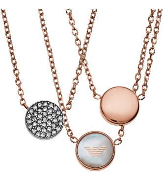 ARMANI JEWELRY EGS2309221 SIGNATURE ROSE GOLD NECKLACE WOMEN
