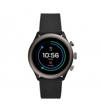 FOSSIL DISPLAY WATCHES FOSSIL SPORT FTW4019 MIXED MULTI SILICONE SMOKE FULL DISPLAY 43MM 5ATM