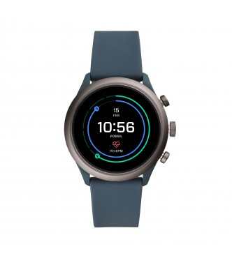 FOSSIL DISPLAY WATCHES FOSSIL SPORT FTW4021 MIXED MULTI SILICONE SMOKE FULL DISPLAY 43MM 5ATM