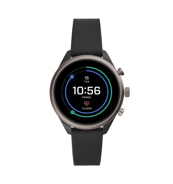 FOSSIL DISPLAY WATCHES FOSSIL SPORT FTW6024 MIXED BLACK SILICONE BLACK FULL DISPLAY 41MM 5ATM