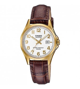 CASIO New Sapphire Basic for Ladies LTS-100 Leather band Case IP Casio Collection LTS-100GL-7AVEF