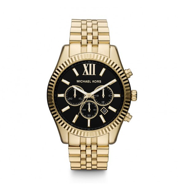 MICHAEL KORS MK8286 LEXINGTON GOLD MENS MEN