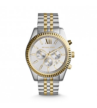 RELOJ MICHAEL KORS MK8344 LEXINGTON 2T SILVER/GOLD