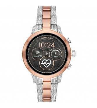MICHAEL KORS WEARABLES RUNWAY MKT5056 WOMEN 2-TONE ROSE GOLD STAINLESS STEEL ATHENA 2.0 41MM 3ATM