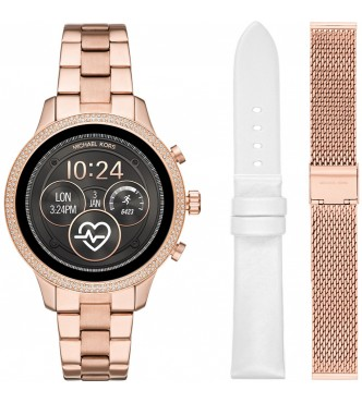 MICHAEL KORS WEARABLES RUNWAY MKT5060 WOMEN ROSE GOLD STAINLESS STEEL ATHENA 2.0 41MM 3ATM