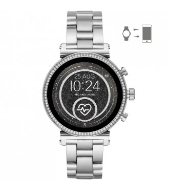 MICHAEL KORS ACCESS  SOFIE MKT5061 SILVER STAINLESS STEEL SILVER STAINLESS STEEL FULL DISPLAY/RAVEN 41MM 3ATM