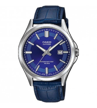 CASIO MTS-100L-2AVEF New Sapphire Basic MTS-100 Leather band Casio Collection