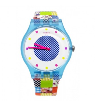 SWATCH QUILTED TIME 1801 BRIT-IN SUOS108
