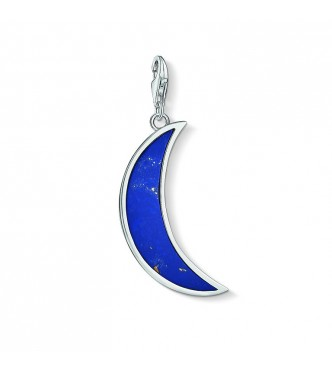 Thomas Sabo Charm pendant 925 Sterling silver/ simulated lapis lazuli blue